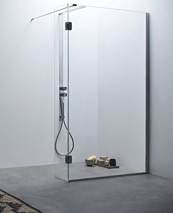 Box Doccia Mobile.Shower Enclosure With Panel And Mobile Door Linea