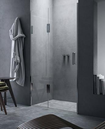 Porta doccia scorrevole in nicchia - Thiesi